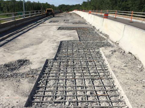 Réparation du pont sur la route 175 au dessus de l'autoroute 73 a Lévis (1)