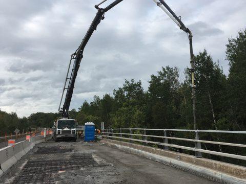 Réparation du pont sur la route 175 au dessus de l'autoroute 73 a Lévis (2)