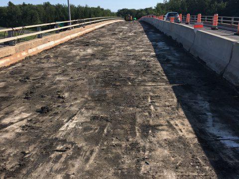 Réparation du pont sur la route 175 au dessus de l'autoroute 73 a Lévis (3)